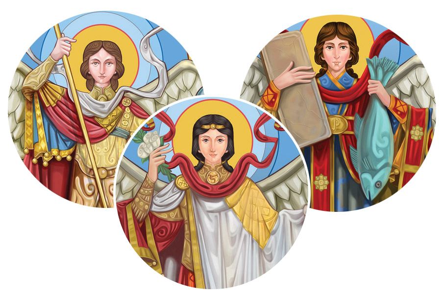 Sts. Michael, Gabriel and Raphael, Archangels